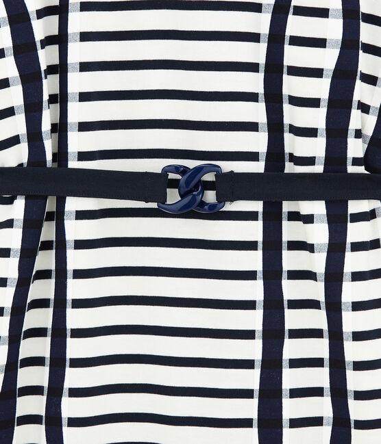 Navy Kimono Marshmallow white / Smoking blue