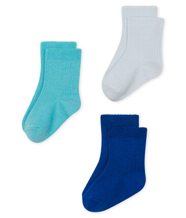Set of 3 pairs of socks for baby boys . set