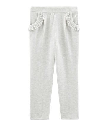 Girls' Knit Trousers Beluga grey