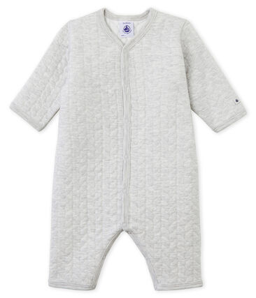 Unisex Babies' Tube-Knit Footless Sleepsuit Beluga grey