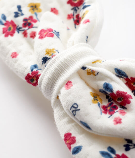 Baby girl's floral headband Marshmallow white / Multico white