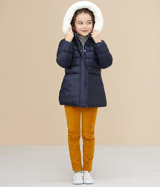 Girls' puffer jacket Smoking blue