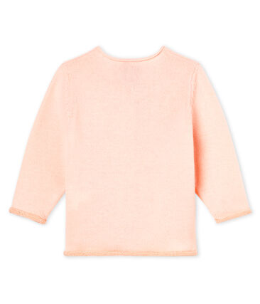 Baby Girls' Wool/Cotton Knit Basic Cardigan