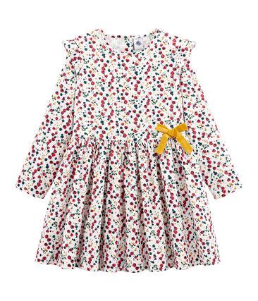 Girls' Print Dress Marshmallow white / Multico white