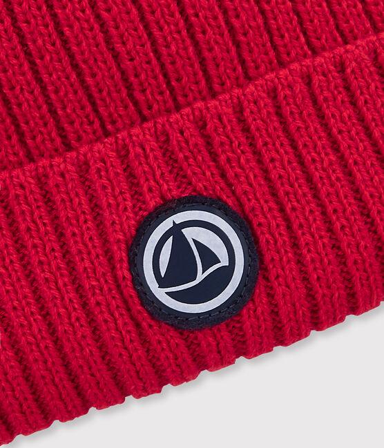Boys' Woolly Hat Terkuit red