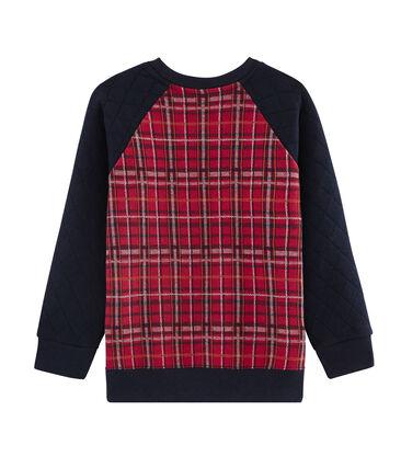 Boy's Sweatshirt Terkuit red / Smoking blue