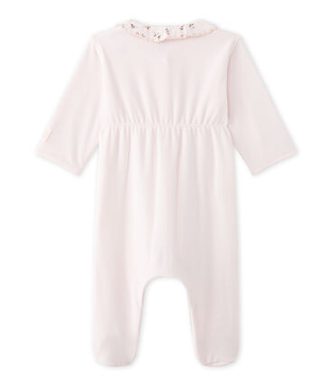 Baby girl's velours sleeper Vienne pink