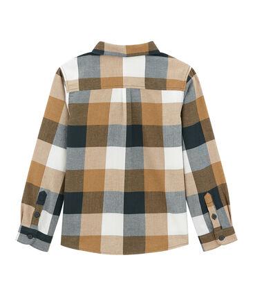 Boy's checked shirt in poplin