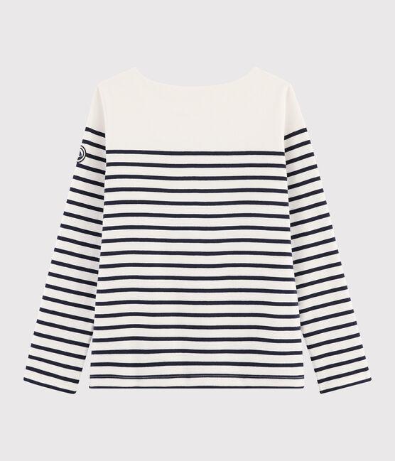 Women's Iconic Breton Top Marshmallow white / Smoking blue