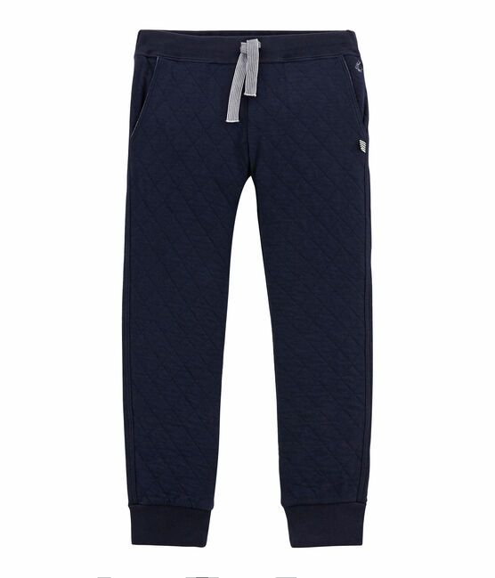 Boy's quilted double knit trousers SMOKING