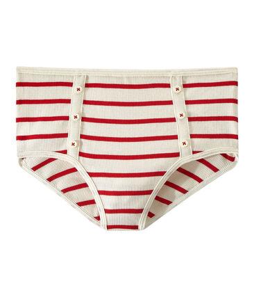 High-waisted pants with 2x2 ribbing