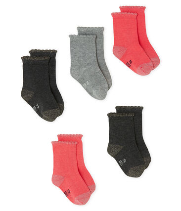 Baby Girls' Basic Socks - 5-Piece Set . set