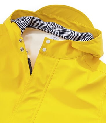 Unisex Children's Waxed Coat Jaune yellow