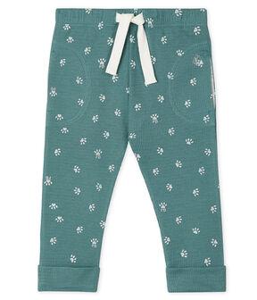 Unisex Baby's Trousers Brut blue / Marshmallow white