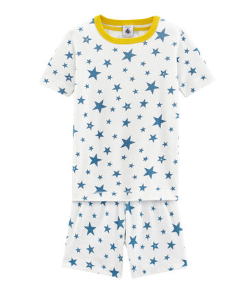 Boys' short Pyjamas Marshmallow white / Alaska blue