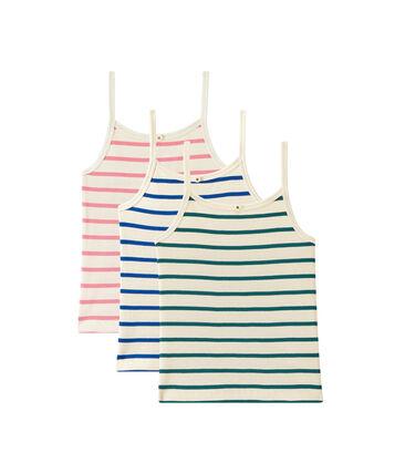 Set of 3 strap vest tops girl . set