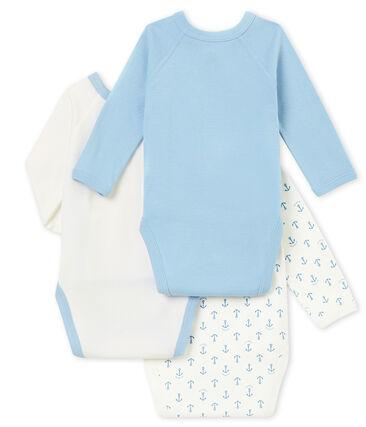 Newborn baby boy's long sleeved body trio