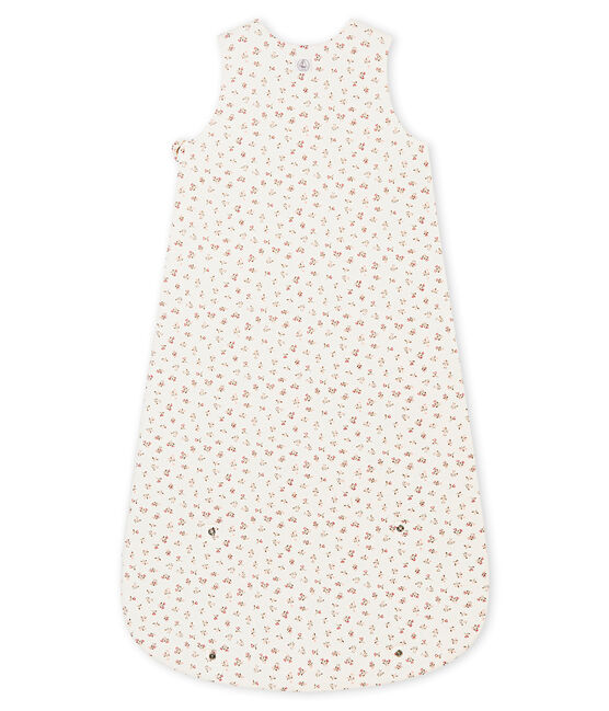 Baby girl's printed sleeping bag Marshmallow white / Multico white