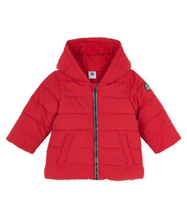 Baby Boys' Microfibre Down Jacket Terkuit red