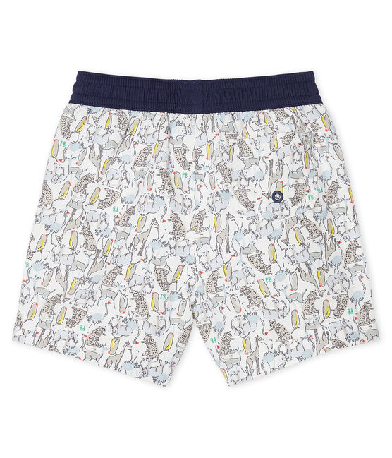 Print beach shorts for baby boys Marshmallow white / Multico white
