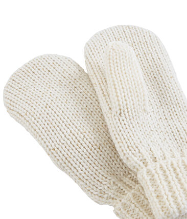 Girls' Mittens Marshmallow white / Or yellow