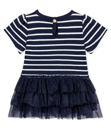 Baby girls' tulle and sailor striped dress