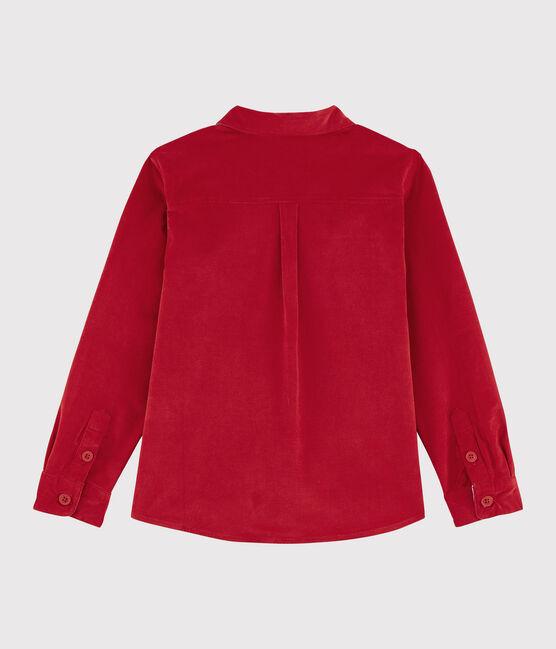 Boys' Velvet Shirt Terkuit red