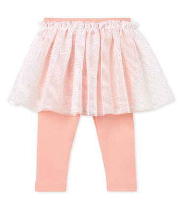 Baby girls' skirted leggings Rosako pink / Copper pink