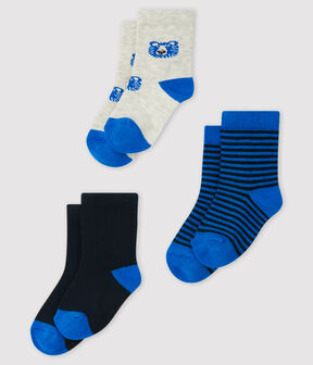 Pack of 3 pairs of baby socks . set