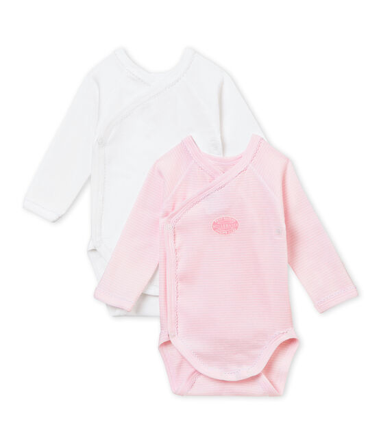 Baby's girl sleepsuit with integrated bodysuit . set