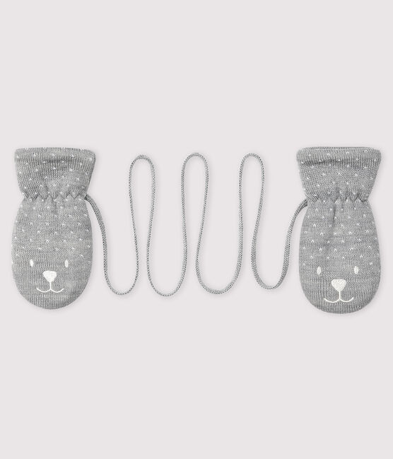 Baby's unisex fleece-lined mittens Subway grey