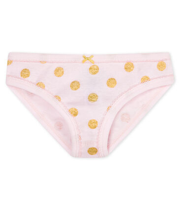 Girls' pants Vienne pink / Or yellow
