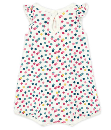 Baby girls' cropped ribbed playsuit