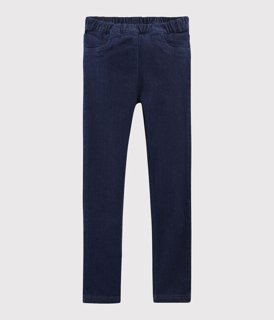Girls' Denim Trousers Denim Bleu Fonce blue