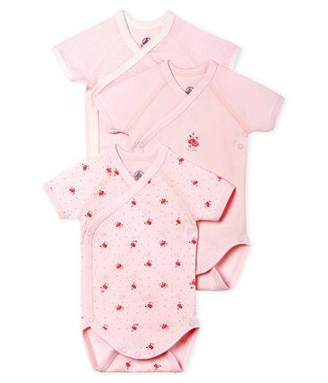 Short-Sleeved Newborn Bodysuit - 3-Piece Set