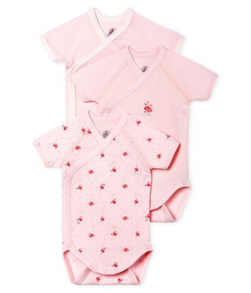 Short-Sleeved Newborn Bodysuit - 3-Piece Set