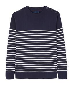 Men's Sailor Pullover with Stripe Design