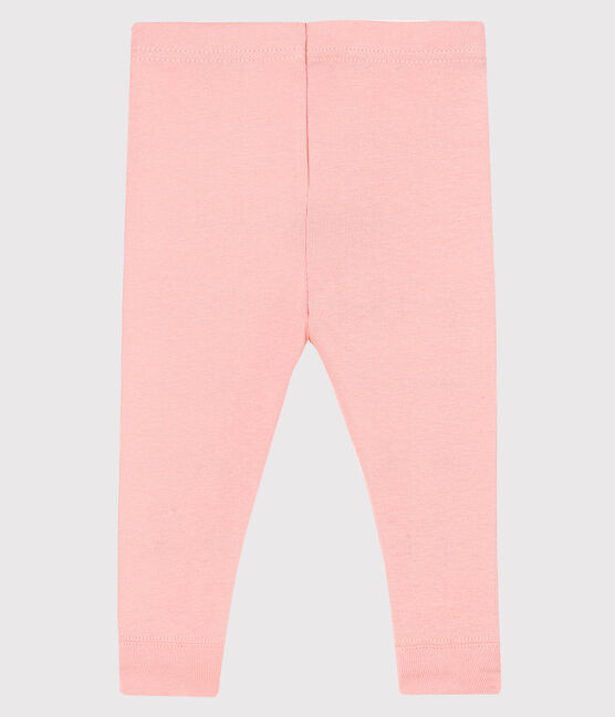 Baby girl's leggings in plain 1x1 rib knit CHEEK