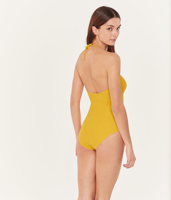 Women's 1-piece swimsuit Bamboo yellow