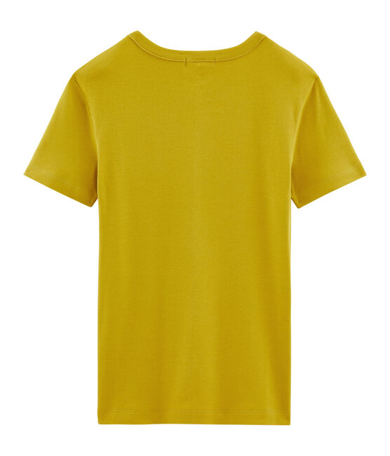 Women's short-sleeved crew neck iconic t-shirt Bamboo yellow