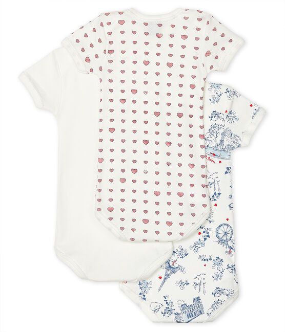 Babies' Short-Sleeved Bodysuit - 3-Piece Set . set