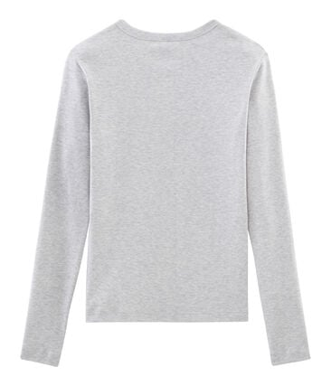Women's Long-Sleeved Iconic T-Shirt Beluga grey