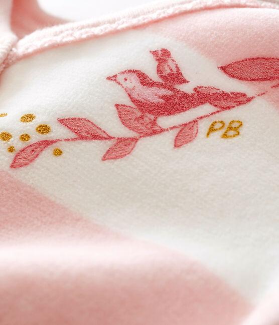 Baby girl's sleepsuit Joli pink / Marshmallow white