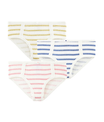 Girls' High-Rise Briefs- 3-Piece Set