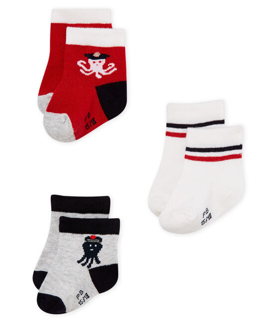 Baby boys' socks - pack of 3 . set