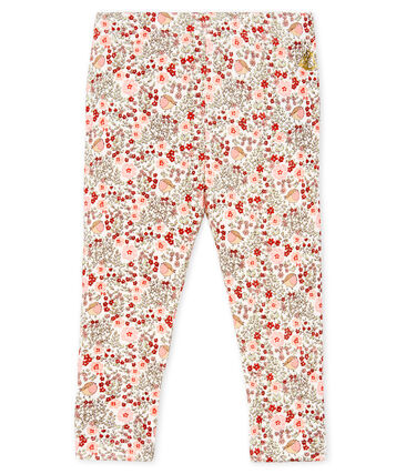 Baby Girls' Printed Ruffled Leggings Marshmallow white / Multico white