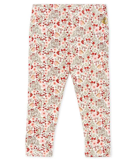 Baby Girls' Printed Ruffled Leggings Marshmallow white / Multico white