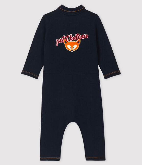 Baby boy's long playsuit Smoking blue
