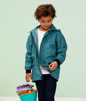 Unisex Children's Waxed Coat Brut blue