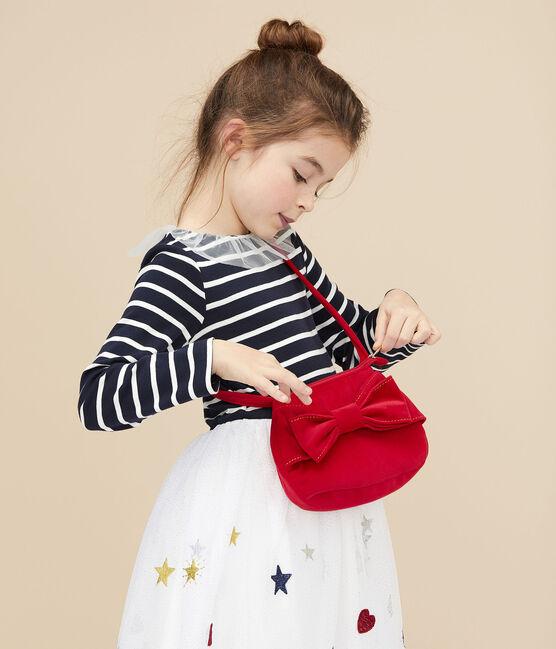 Girls' velvet handbag Terkuit red